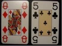 Speelkaarten, grootletter X,  Opti-2 sets, met afbeeldingen
