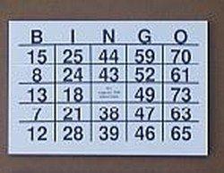 Bingokaarten grootcijfer A-5 formaat