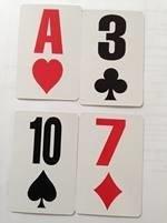 Speelkaarten, grootletter, zonder afbeelding Low Vision Design