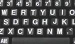 Toetsenbord met zeer contrasterende karakters