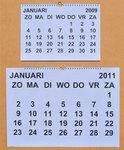 Maandkalender XL grootletter, 1 pagina per maand