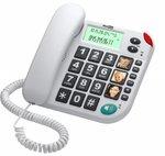 Telefoon voor ouderen en/of slechtzienden wit