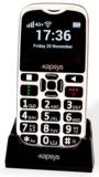 De nieuwe Minivison2 mobiele telefoon Nederlands sprekend.