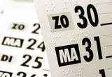 Braille en grootletter kalenders