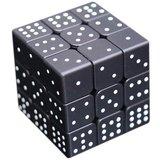 Spelkubus Braille zwart met 9 x verschillende voelbare puntindicaties
