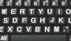 Toetsenbord-zwarte ondergrond witte letters