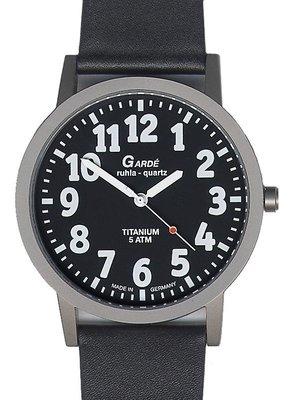 Horloge voor slechtzienden Garde zwart/wit