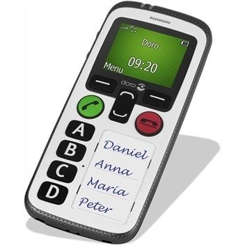 Seniorentelefoon-grote toetsen, GPS & Alarm