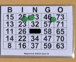 Grootletter Bingokaart A-5, Magnetisch