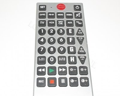Grote toetsen afstandsbediening-Low Vision DesignLabel