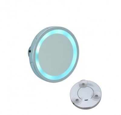 Plakspiegel met LED verlichting, vergroot 3x, 11,5 cm