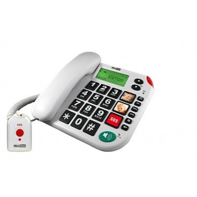 Telefoon senioren, SOS knop&extra koord Maxcom