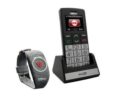 Sprekende telefoon mobiel, XL toetsen met SOS band