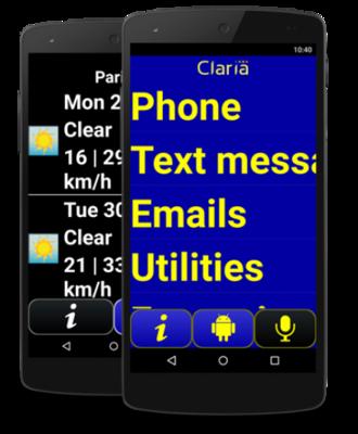 Claria Software smartphone slechtzienden en ouderen