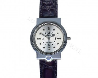 Braille herenhorloge met lederen band