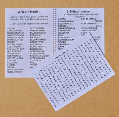 Woordzoeker grootletter A-4 formaat, 3 of 4 sterren