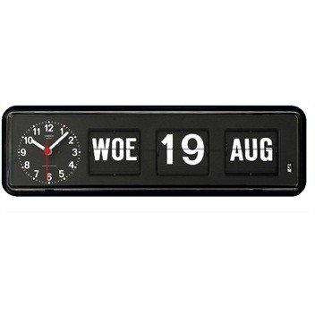 Tafel analoge kalenderklok zwart.