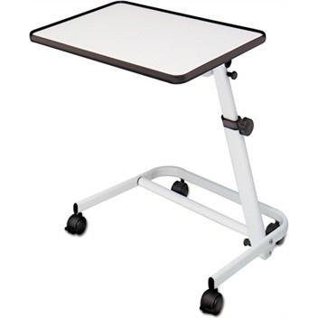 Bedleestafel, hoogte verstelbaar. Top wit