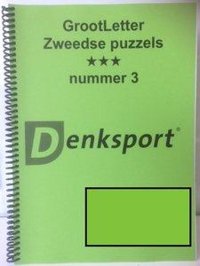 Grootletter Zweedse puzzel Denksport, 2 en 3 sterren