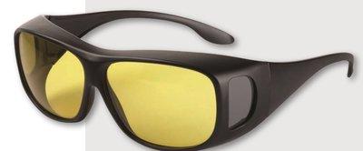 Improvision voorzet filterbril, brildragende.