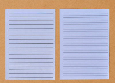 Schrijfblok voor slechtzienden, A-4, zwarte lijnen en grote regelafstand