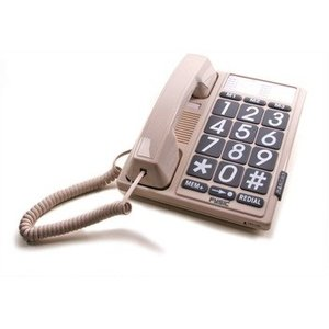 Seniorentelefoon met grote toetsen en bellampje