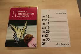 Braille kalender, A-4