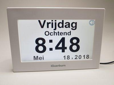 Digitale dagklok met Nederlandse spraak
