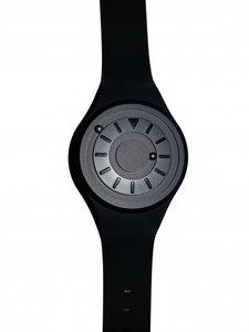 Horloge voor blinden en zeer slechtzienden. Wijzerplaat en band zwart