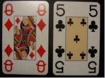 Speelkaarten grootletter met afbeelding