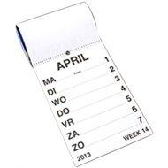 Weekkalender grootletter A-3 formaat.