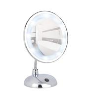 Staande spiegel met extra krachtige LED verlichting. Vergroot 300%