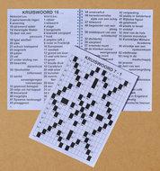 Grootletter kruiswoordpuzzelboek