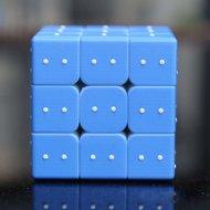 Spelkubus met braille voelindicatie